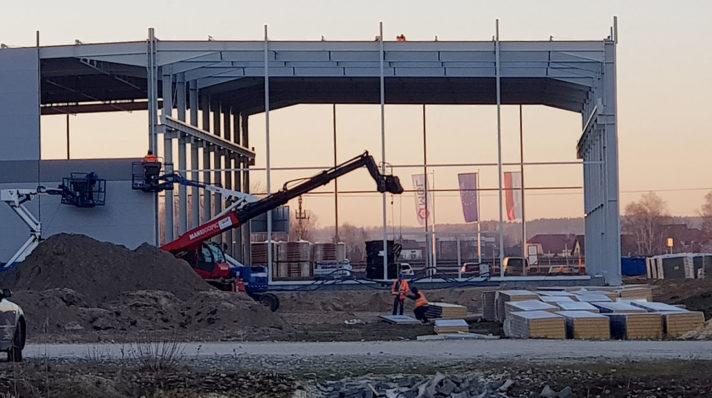 Le nouveau hall de production est bientôt terminé !